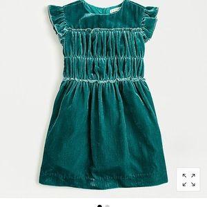 J. Crew Girls' smocked-waist dress in velvet